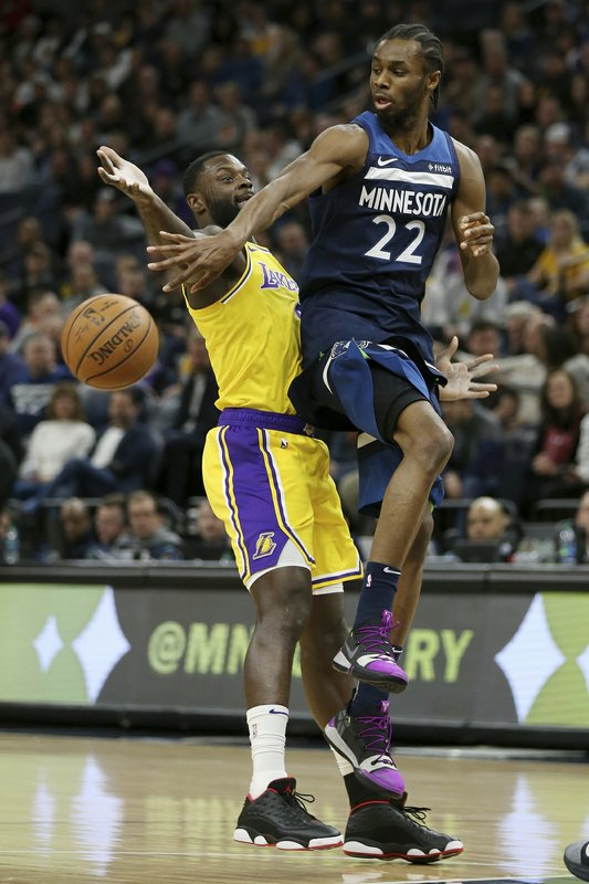 92ecee8287a Wiggins leads Wolves past Lakers 108-86 before Thibs firing