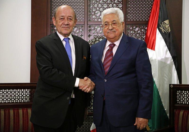 Jean-Yves Le Drian, Mahmoud Abbas
