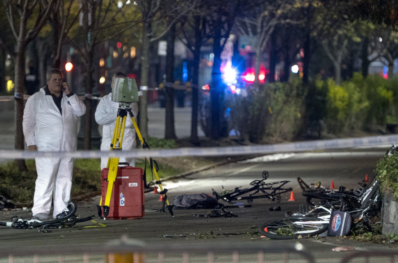'Cowardly act of terror': Truck driver kills 8 on bike path