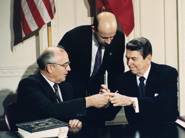 The Latest: Russian dismisses US claim of treaty violations