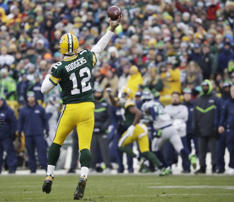 11 2016 File Photo Green Bay Packers Aaron Rodgers Throws A Touchdown Pass To Davante Adams During The First Half Of An NFL Football Game Against