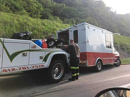 Disabled truck slowed commute on Route 28 near Highland Park Bridge