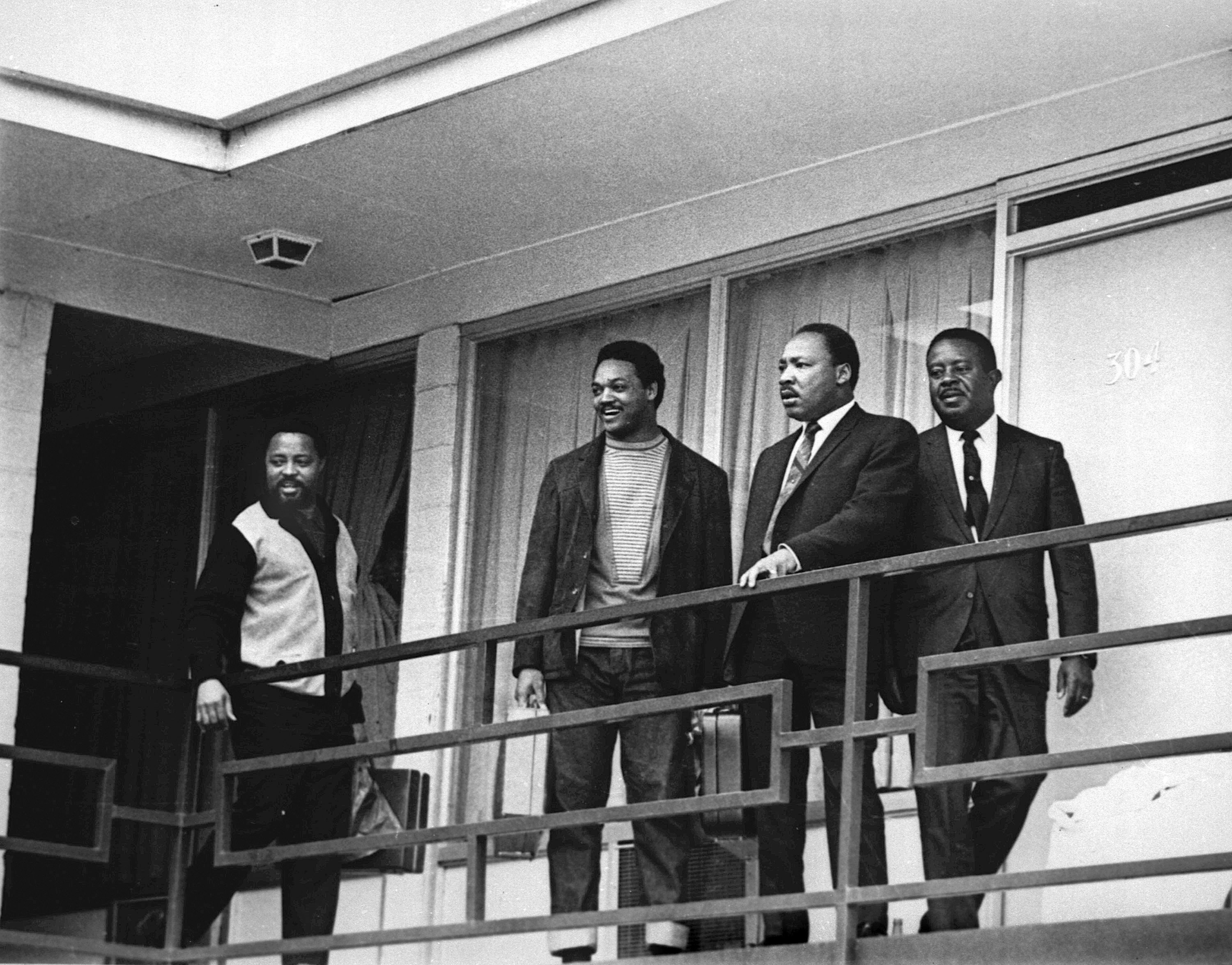 Dr. Martin Luther King, Jr. at the Lorraine Hotel