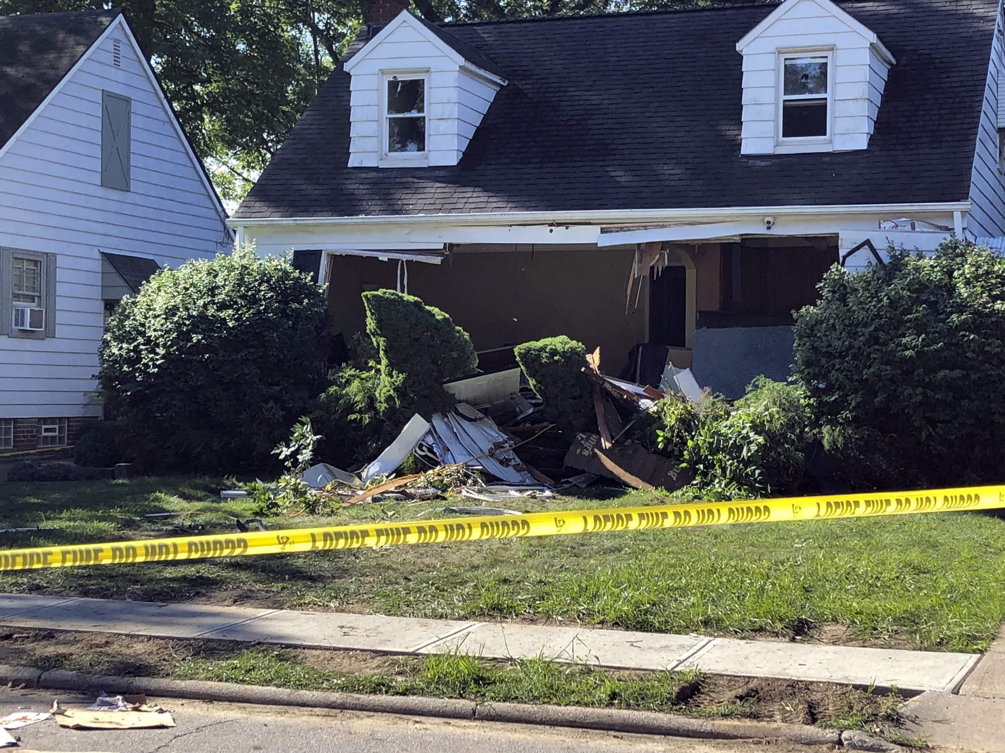 This photo provided by WEWS-TV in Cleveland shows the home in South Euclid,  Ohio, where two brothers were found dead of self-inflicted gun shot wounds  Aug.