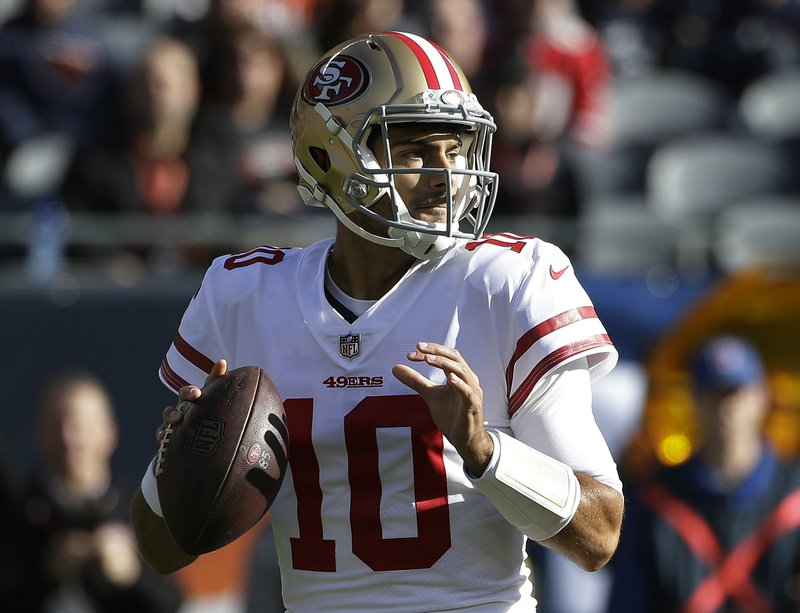 fe7c6b94a Garoppolo off to promising start as 49ers beat Bears