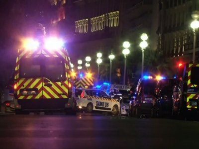 Raw: French Police on Scene After Truck Attack
