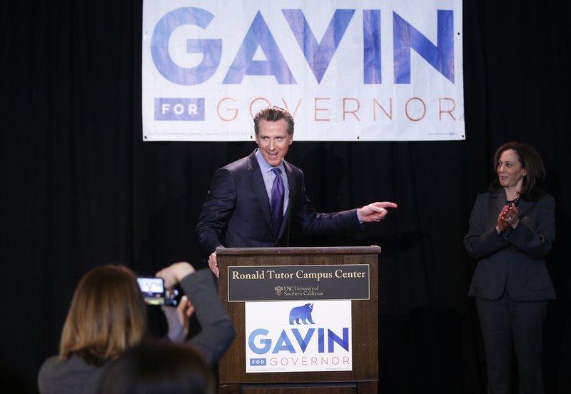Gavin'Newsom, Kamala Harris