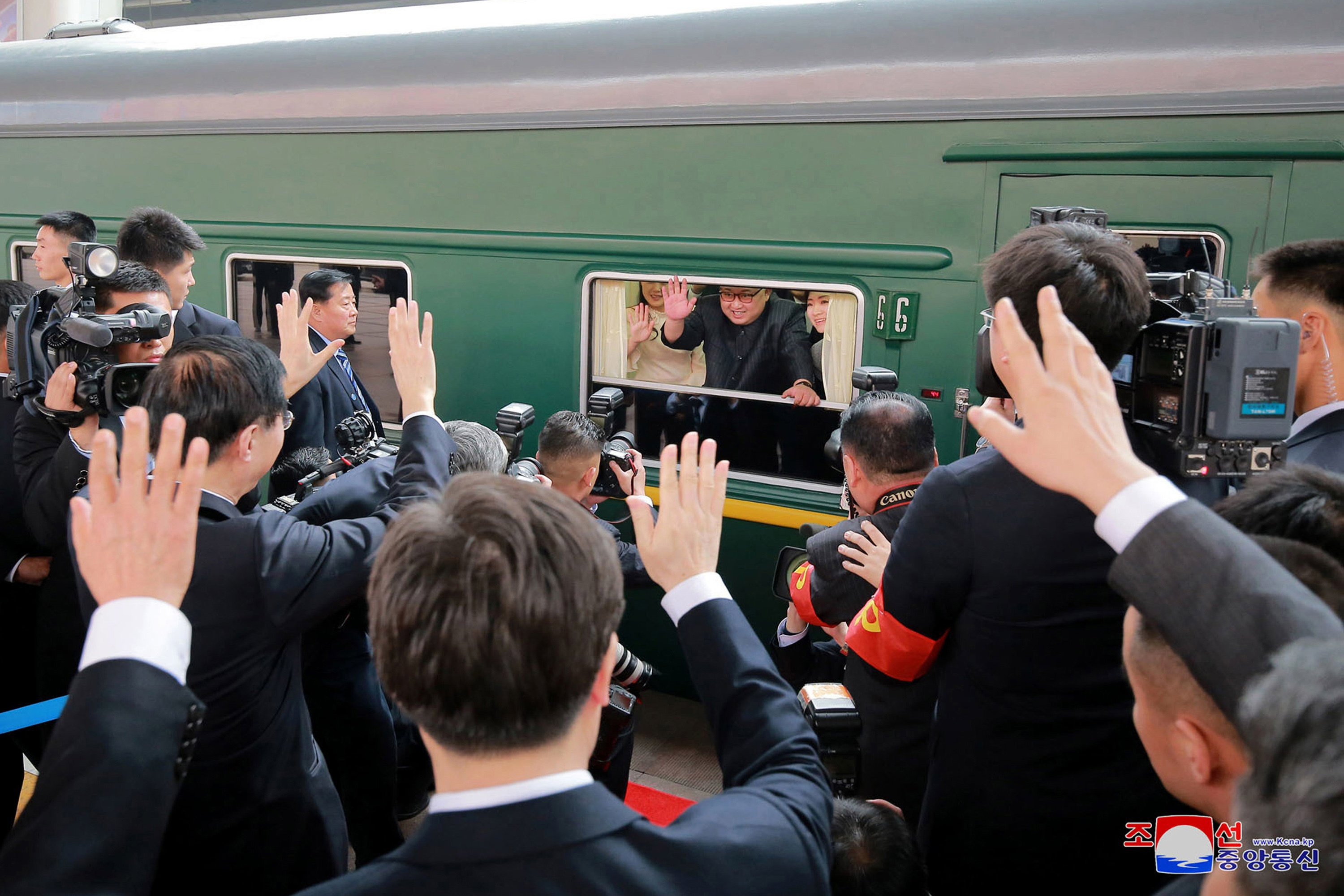 AP PHOTOS: Rulers ride the rails across history