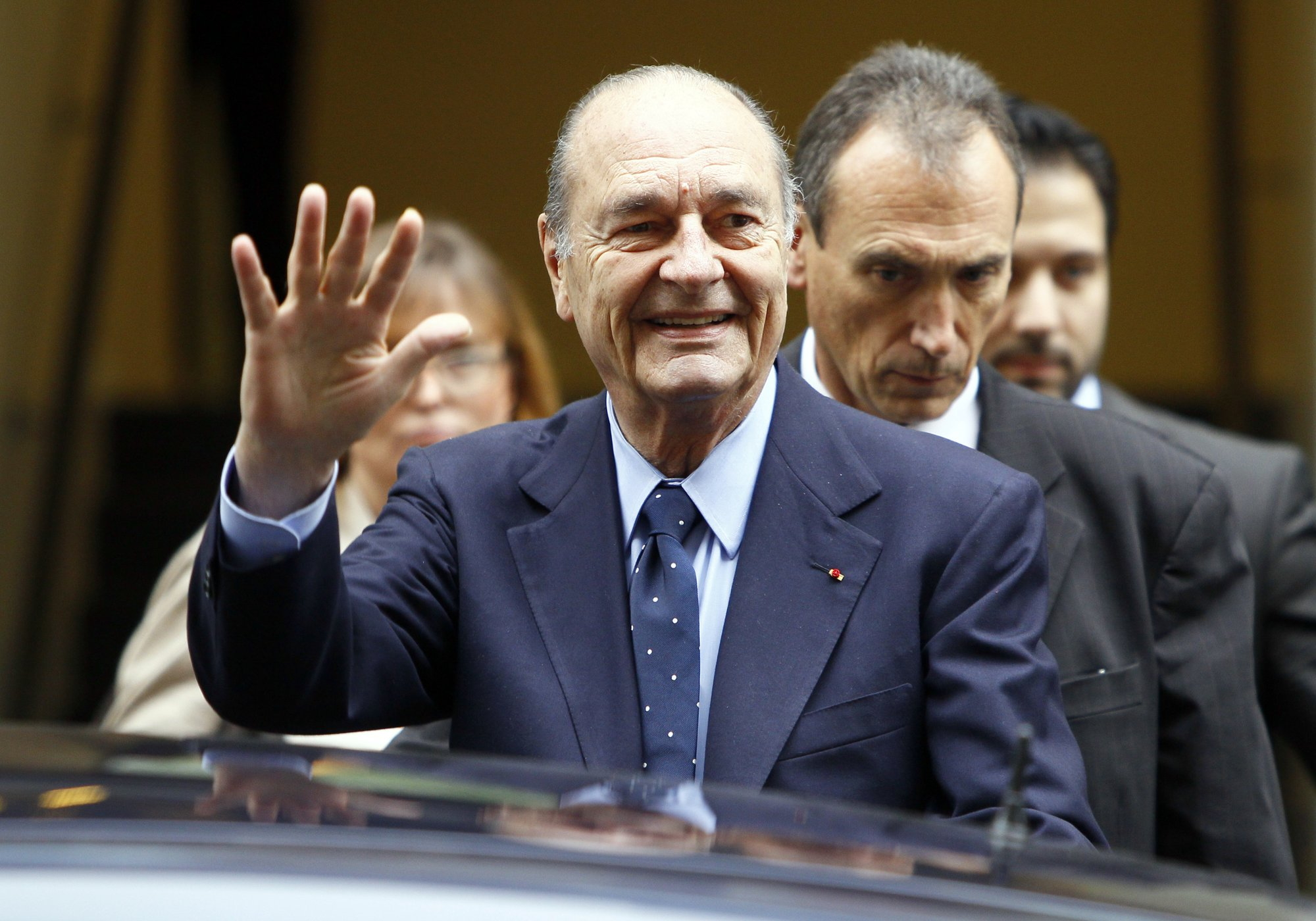 France's Jacques Chirac in hospital with lung infection