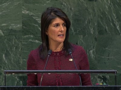 Haley: US Will Remember UN Vote on US Embassy