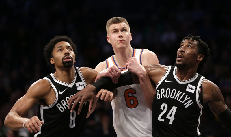 Spencer Dinwiddie, Rondae Hollis-Jefferson, Kristaps Porzingis