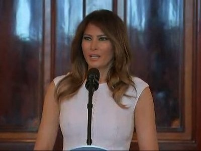 First Lady Heartened by Children Speaking Out