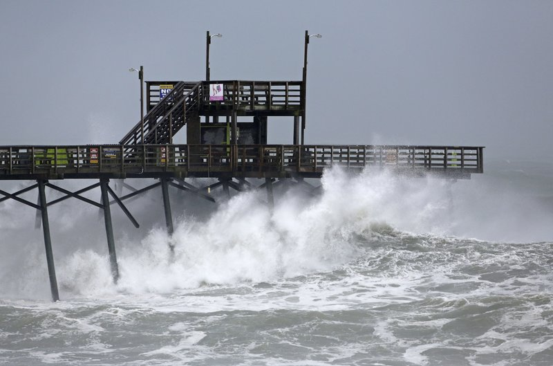 Watch South Carolina BATTERED by gale force winds