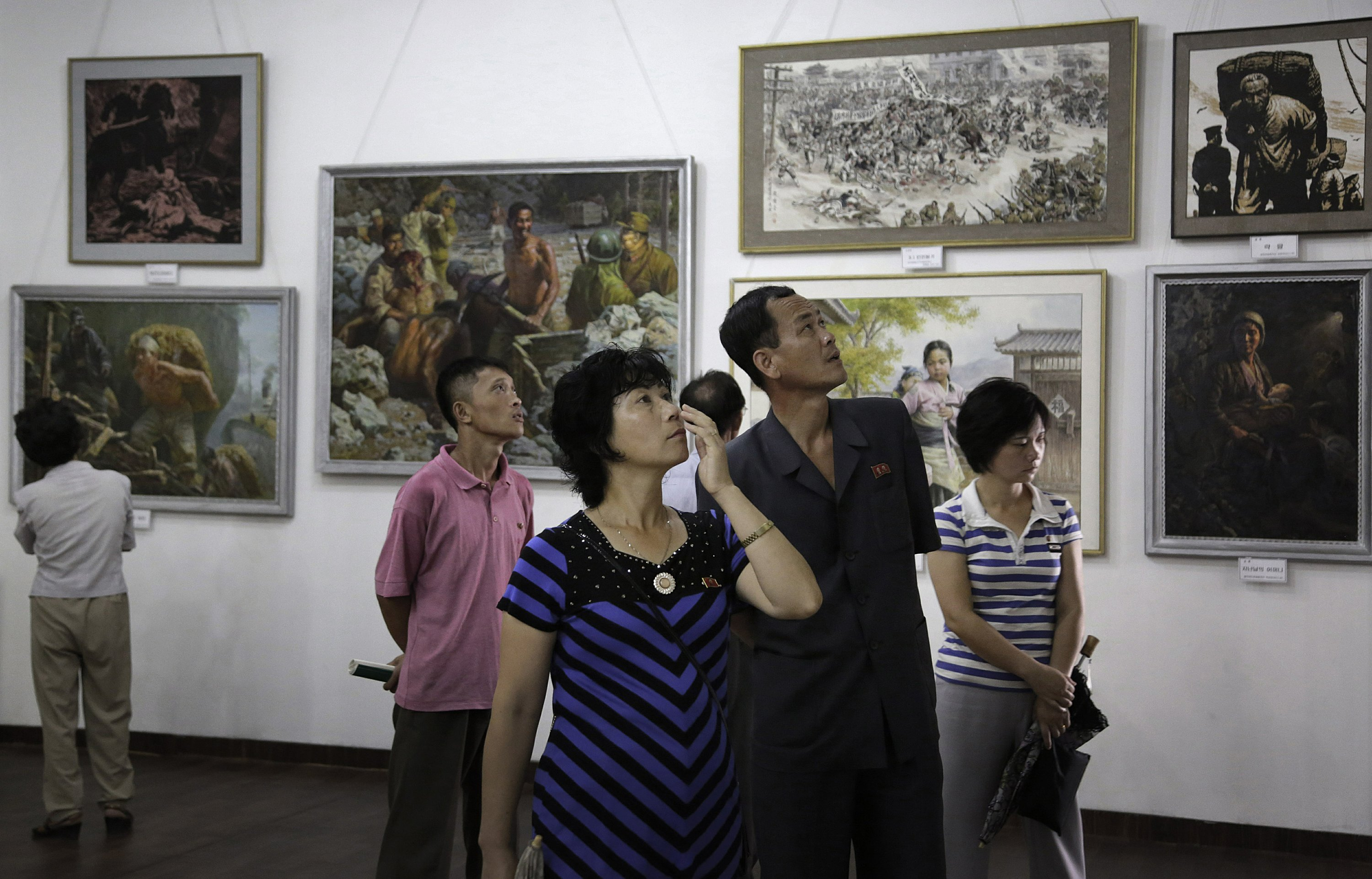 South Korea stops paintings brought from North Korea