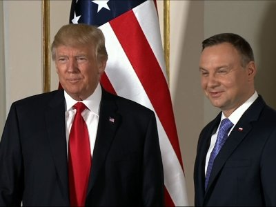 Raw: Trump Meets Polish President Duda In Warsaw