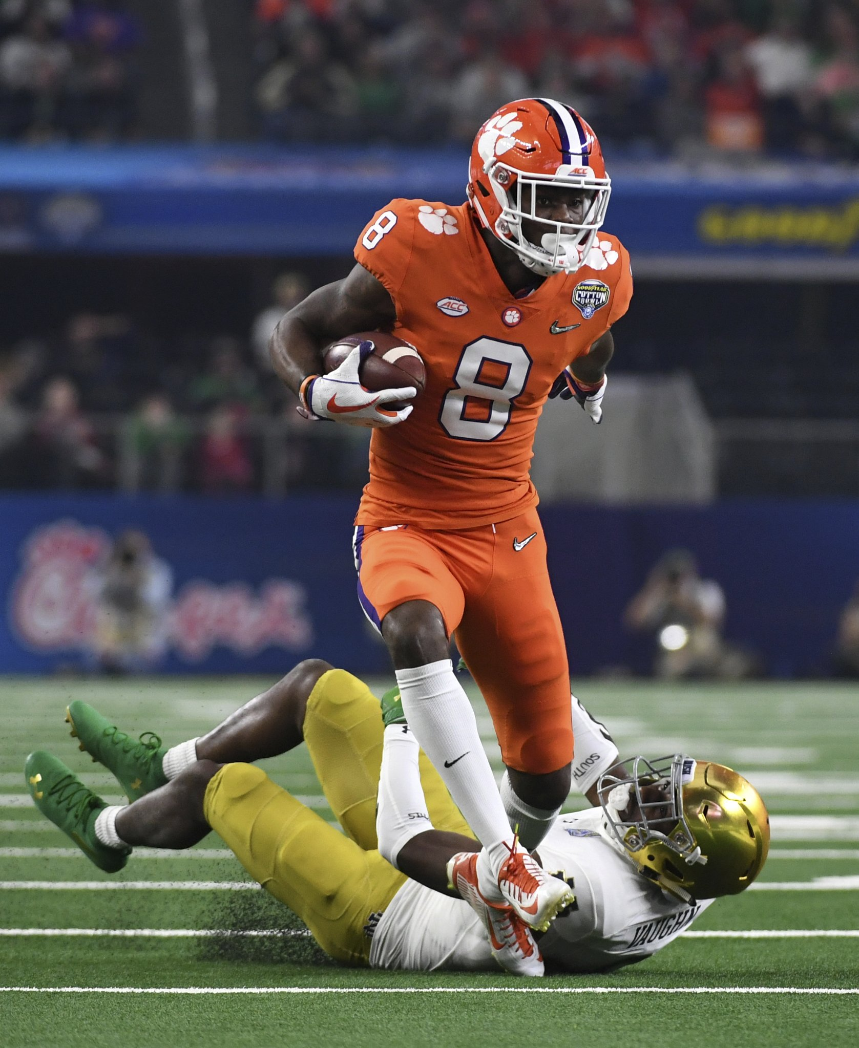 The Latest: Clemson takes 23-3 halftime lead over Notre Dame