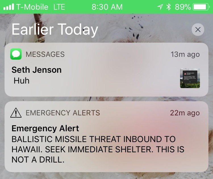Hawaii officials mistakenly warn of inbound missile