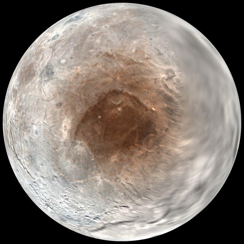 Study Pluto Spray Painting Poles Of Its Big Moon Charon