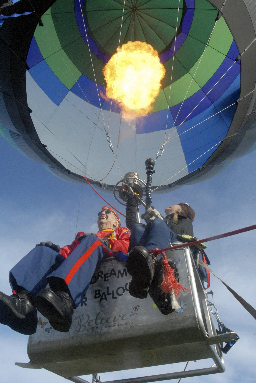 World War II veteran gets birthday balloon ride in Sequim