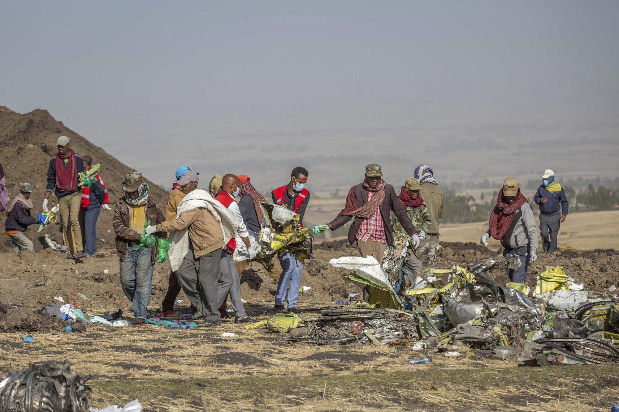The Latest: US aviation team arrives at Ethiopia crash site