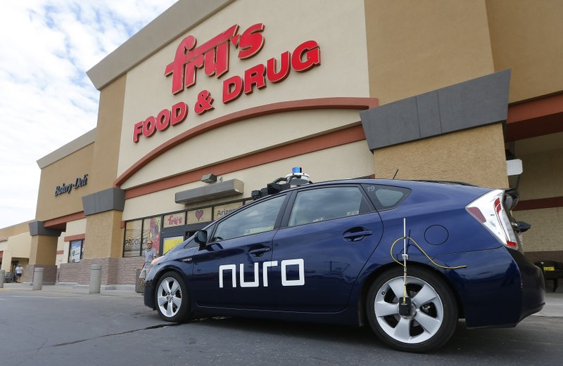 A Self Driving Nuro Vehicle Parks Outside A Fryu0027s Supermarket, Which Is  Owned By Kroger, As Part Of A Pilot Program For Grocery Deliveries  Thursday, Aug.