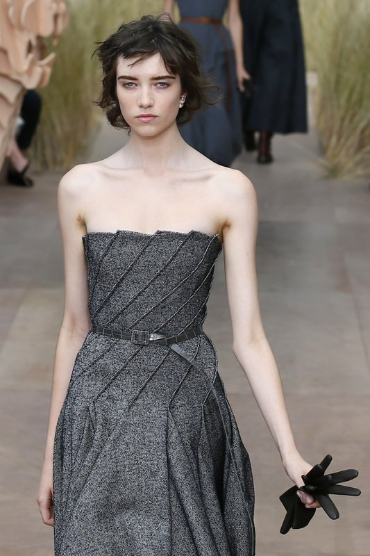 A model wears a creation during Christian Dior Haute Couture Fall-Winter  2017 2018 fashion collection presented Monday 0979f2a0ed2b4
