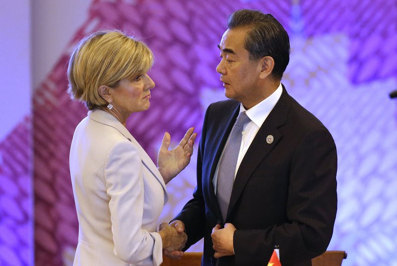 Wang Yi, Julie Bishop