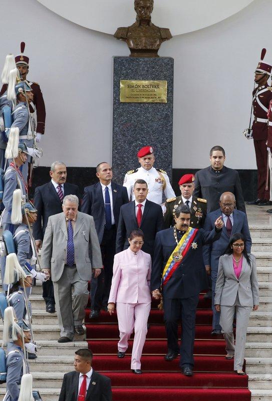 Cilia Flores, Nicolas Maduro, Delcy Rodriguez