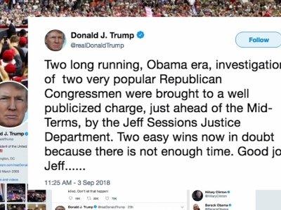 Senators voice concern over Trump's DOJ tweets
