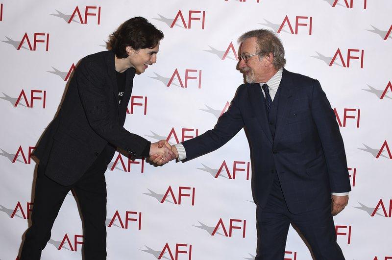 Timothee Chalamet, Steven Spielberg