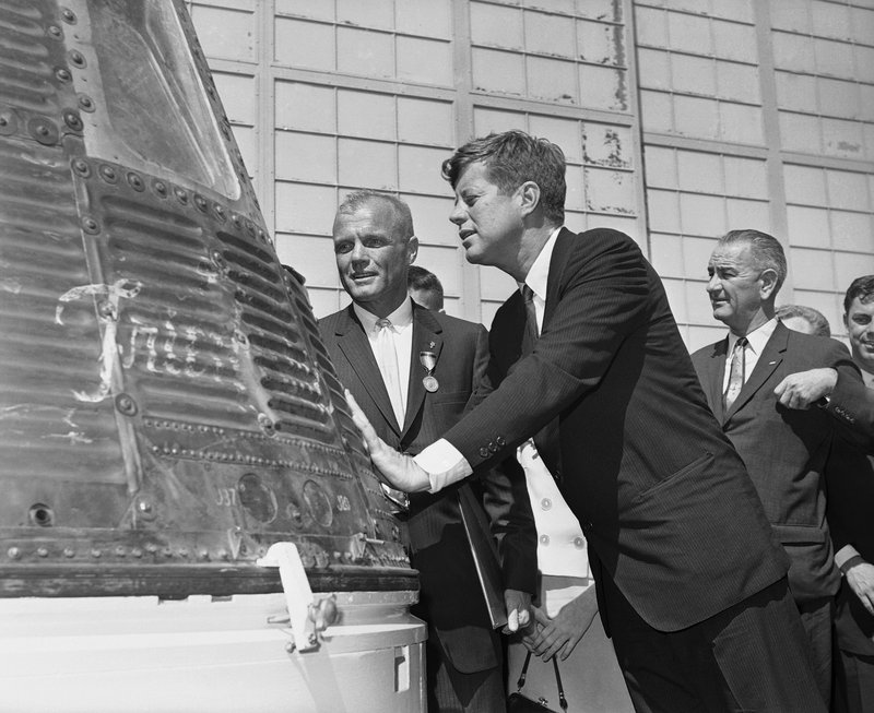 John F. Kennedy, John Glenn, Lyndon B. Johnson