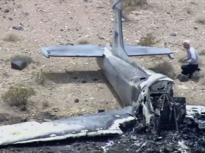Raw: Vintage U.K. Military Jet Crash in Nevada