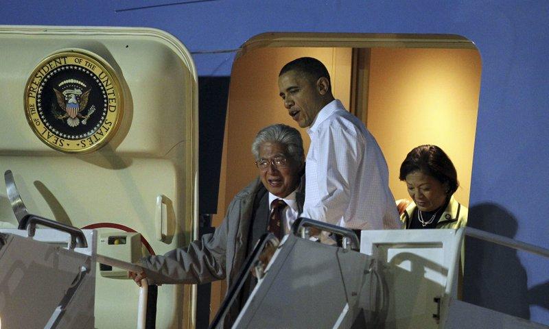 Barack Obama, Mazie Hirono, Daniel Akaka