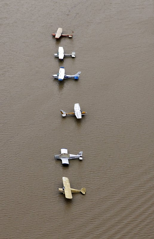 Flooded planes
