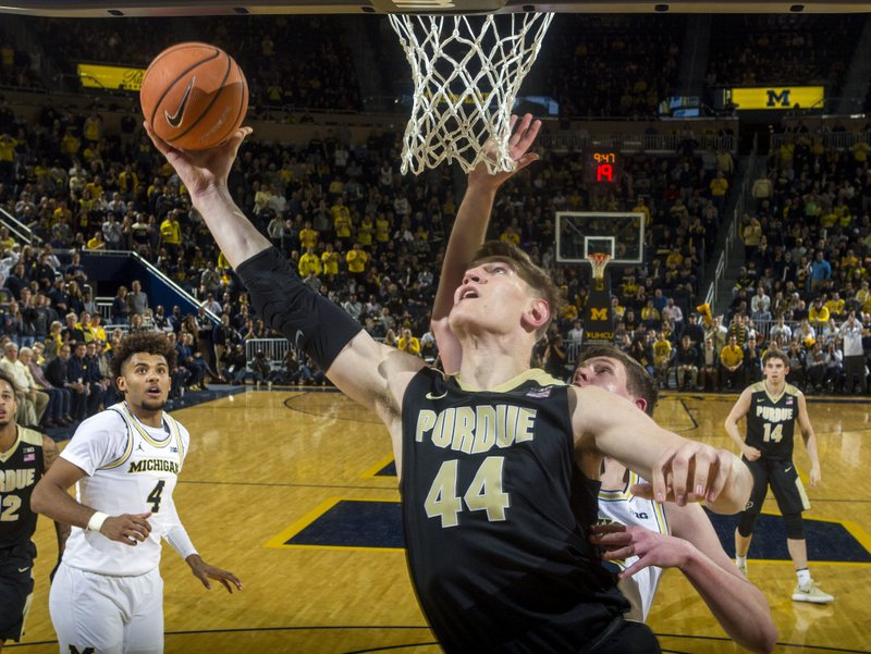 Haas' free throw gives No. 5 Purdue 70-69 win over Michigan