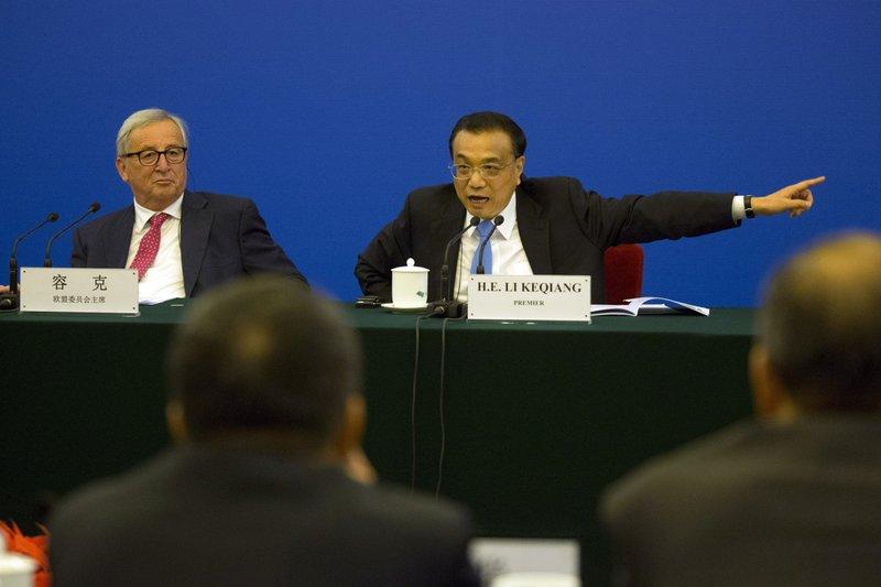 Li Keqiang, Jean-Claude Juncker
