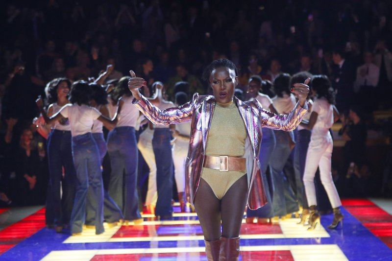 fa78981045b Grace Jones rocks Zendaya show as Valentino gets ovation