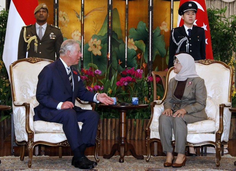 Prince Charles, Halimah Yacob