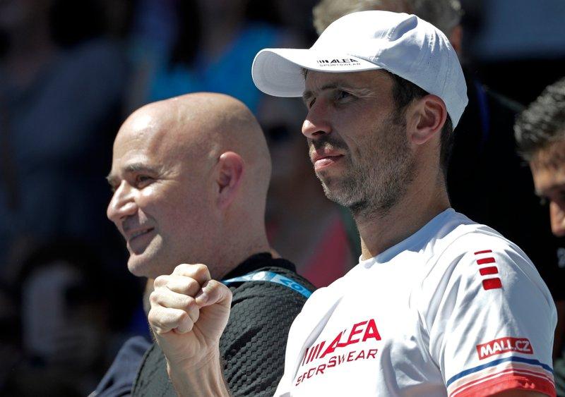 Radek Stepanek, Andre Agassi