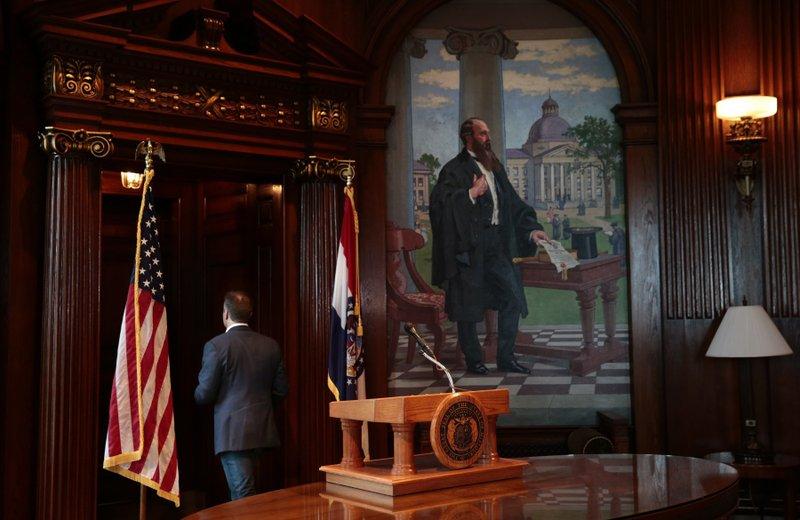 The Latest: Top Republicans welcome new Missouri Gov  Parson