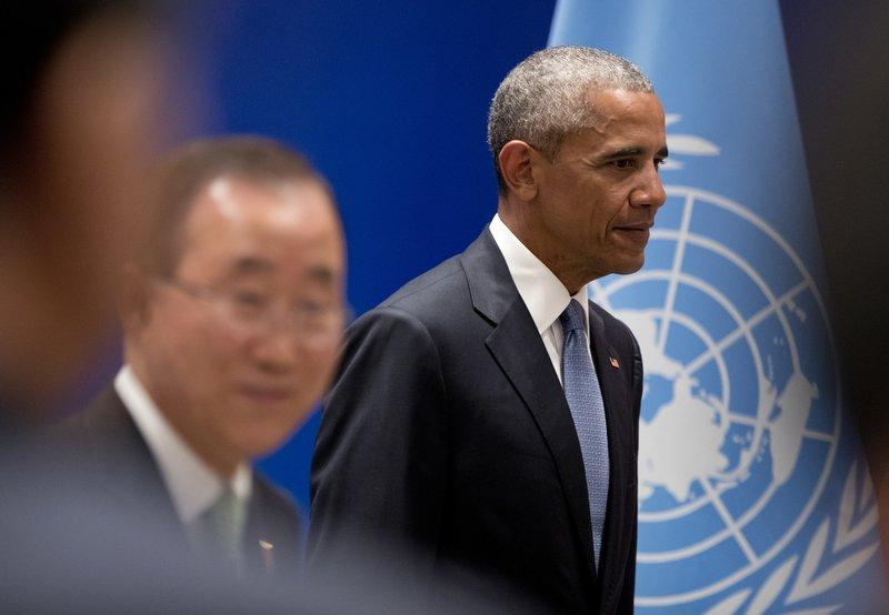 Barack Obama, Ban Ki-moon