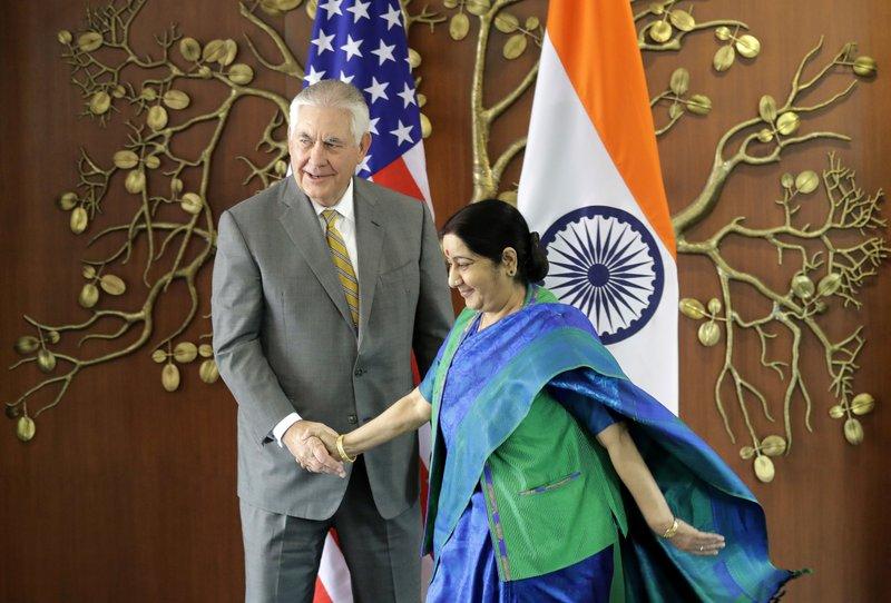 Sushma Swaraj, Rex Tillerson