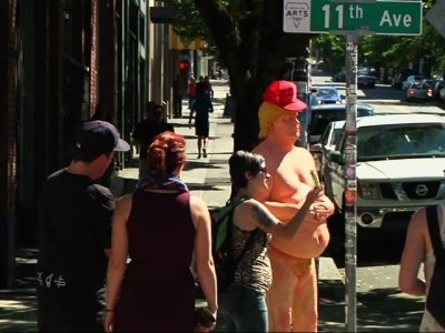 Naked Donald Trump Statues Pop Up in US Cities