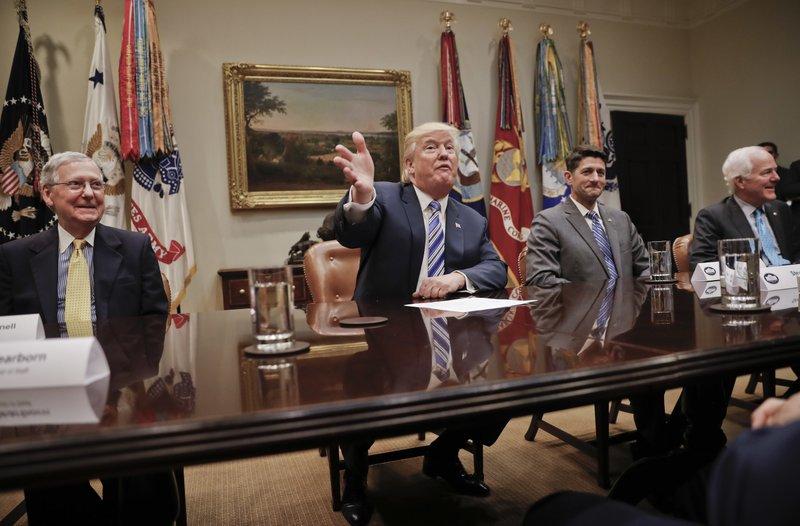 Donald Trump, Mitch McConnell, Paul Ryan, John Cornyn,