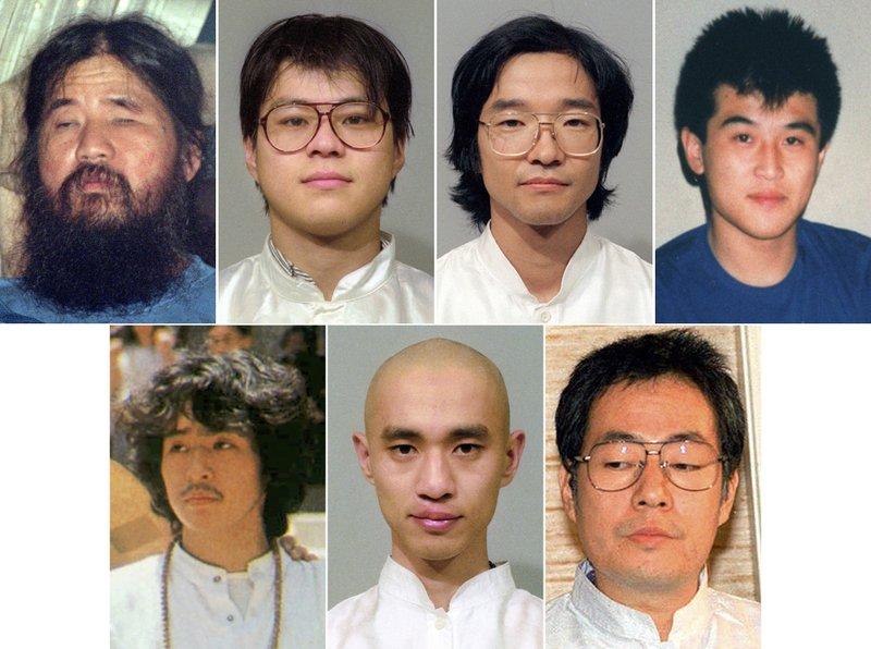 Shoko Asahara, Tomomasa Nakagawa, Seiichi Endo, Yoshihiro Inoue, Tomomitsu Nimi, Kiyohide Hayakawa