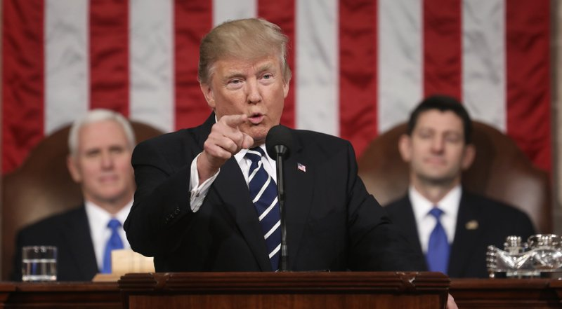 Amid turmoil, Trump seeking a reset with State of the Union