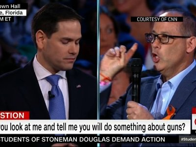 Angry Questions at CNN Town Hall on Guns