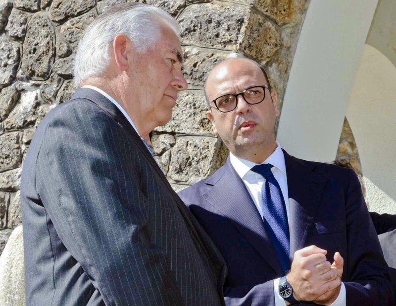 Rex Tillerson, Angelino Alfano