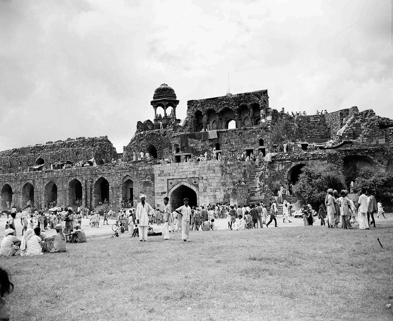 In this Sept. 17, 1947 file photo, Muslim refugees, evacuated from areas of unrest in New Delhi, take shelter in the corners of the ancient walls of Purana Qila, the old fort, in New Delhi, India. When the British ended two centuries of colonial rule on the Indian subcontinent in August 1947, they left a jigsaw legacy _ the vast country of India flanked on either side by a newly created Pakistan split in two parts. Excitement over independence was quickly overshadowed by some of the worst bloodletting the world has ever seen, leaving up to 1 million people dead as gangs of Hindus and Muslims slaughtered each other.