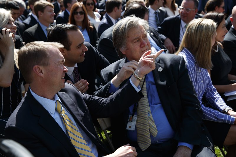 Donald Trump, Neil Gorsuch, Anthony Kennedy, Steve Bannon, Mick Mulvaney